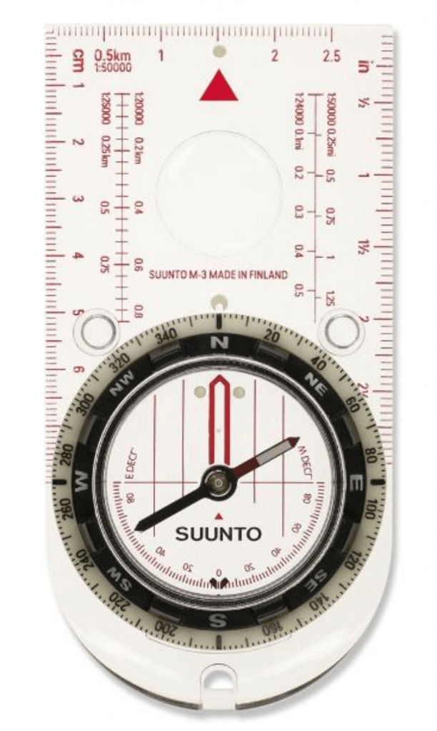 how to use a compass -- baseplate compass
