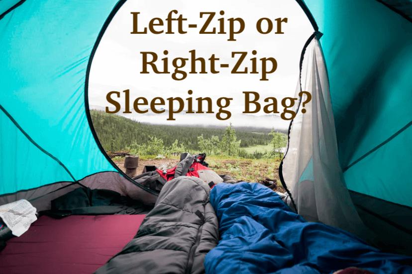left-zip or right-zip sleeping bag