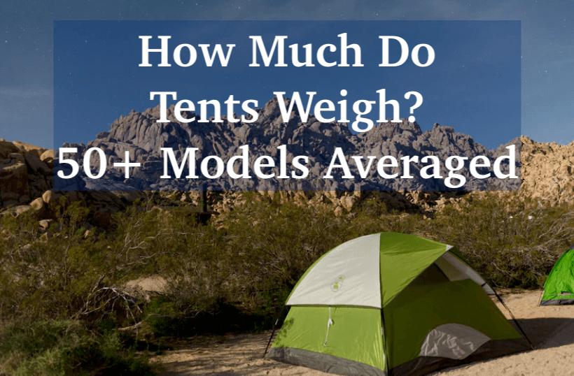 average tent weight