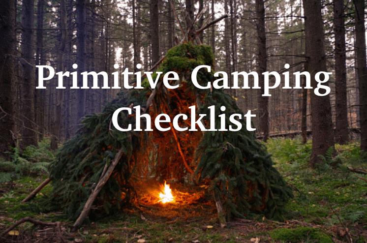 primitive camping checklist