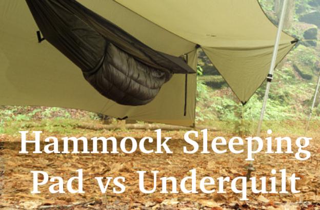 hammock sleeping pad vs underquilt